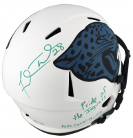"Fred Taylor Signed Jaguars Full-Size Lunar Eclipse Alternate Speed Helmet Inscribed ""Pride of the Jaguars"" & ""10k Rushing Club"" (Beckett Hologram) at PristineAuction.com"