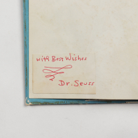 """Dr. Seuss Signed """"The Cat in the Hat"""" Hardcover Book Inscribed """"With Best Wishes"""" (JSA ALOA) (See Description) at PristineAuction.com"""