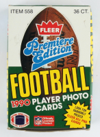 1990 Fleer Football Card Box with (36) Packs (See Description) at PristineAuction.com