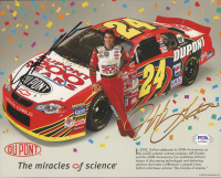 Jeff Gordon Signed NASCAR 8x10 Print (PSA COA) at PristineAuction.com