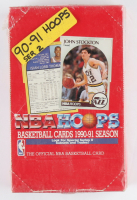 1990-91 Hoops Series 2 Basketball Wax Box of (36) Packs at PristineAuction.com