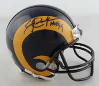 "Eric Dickerson Signed Rams Mini-Helmet Inscribed ""HOF 99"" (Beckett COA) at PristineAuction.com"
