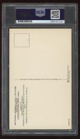 Warren Spahn Signed Hall of Fame Plaque Postcard (PSA Encapsulated) at PristineAuction.com