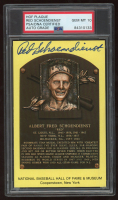 Red Schoendienst Signed Hall of Fame Plaque Postcard (PSA Encapsulated) at PristineAuction.com