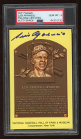 Luis Aparicio Signed Hall of Fame Plaque Postcard (PSA Encapsulated) at PristineAuction.com
