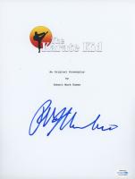 "Ralph Macchio Signed ""The Karate Kid"" Movie Script Cover (ACOA COA) at PristineAuction.com"