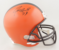 Joe Thomas Signed Browns Full-Size Helmet (Schwartz COA) (See Description) at PristineAuction.com