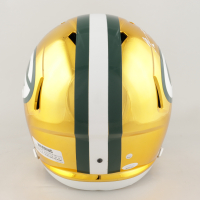 Aaron Rodgers & Davante Adams Signed Packers Full-Size Chrome Speed Helmet (Steiner COA & JSA COA) at PristineAuction.com
