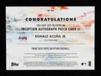 Ronald Acuna Jr. 2020 Topps Inception Patch Autographs #IAPRAJ at PristineAuction.com