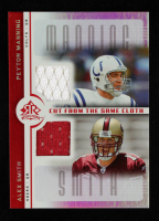Peyton Manning / Alex Smith 2005 Reflections Cut From the Same Cloth Red #CCMS QB at PristineAuction.com