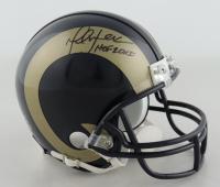 "Marshall Faulk Signed Rams Throwback Mini-Helmet Inscribed ""HOF 20XI"" (JSA COA) at PristineAuction.com"
