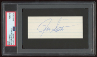 Ron Santo Signed 3x5 Cut (PSA Encapsulated) at PristineAuction.com