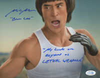 """Mike Moh Signed """"Once Upon A Time in Hollywood"""" 8x10 Photo Inscribed """"Bruce Lee"""" & """"My Hands Are Registered as Lethal Weapons"""" (AutographCOA COA) at PristineAuction.com"""