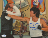 "Mike Moh Signed ""Once Upon A Time in Hollywood"" 8x10 Photo Inscribed ""Bruce Lee"" (AutographCOA COA) at PristineAuction.com"