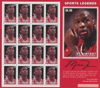 Michael Jordan Bulls Uncut Stamp Sheet at PristineAuction.com