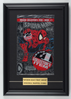 "Vintage 1990 ""The Amazing Spider-Man"" Issue #1 12x17 Custom Framed Factory Sealed Marvel First Issue Comic Book at PristineAuction.com"