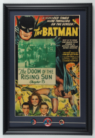 """New Adventures of Batman & Robin the Wonder Boy"" 15x22 Custom Framed Print Display with (3) Original Vintage 1965 Batman Fan Club Lapel Pins at PristineAuction.com"