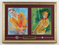 "LeRoy Neiman ""Arnold Palmer & Jack Nicklaus"" 15x20 Custom Framed Print Display with (2) Ball Markers at PristineAuction.com"