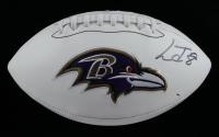 Lamar Jackson Signed Ravens Logo Football (JSA Hologram) (See Description) at PristineAuction.com