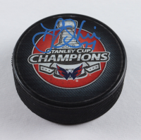 T. J. Oshie Signed 2018 Stanley Cup Champion Logo Hockey Puck (Beckett COA) at PristineAuction.com