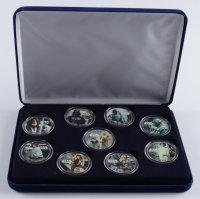 Star Wars LE Set of (9) Colorized Eisenhower Dollars at PristineAuction.com
