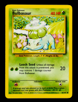 Bulbasaur 1999 Pokemon Base Unlimited #44 at PristineAuction.com