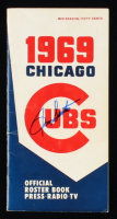 Ron Santo Signed 1969 Cubs Official Roster Book (JSA COA) at PristineAuction.com