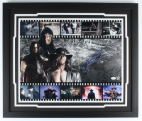 The Undertaker Signed WWE 22x26 Custom Framed Photo Display (JSA COA) (See Description) at PristineAuction.com