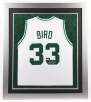 Larry Bird Signed 31.25x35.5 Custom Framed Jersey (Beckett COA) (See Description) at PristineAuction.com