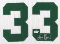 Larry Bird Signed 31.25x35.5 Custom Framed Jersey (Beckett COA) (See Description) at PristineAuction.com