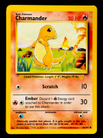 Charmander 1999 Pokemon Base Unlimited #46 at PristineAuction.com