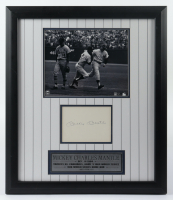 Mickey Mantle Signed LE Yankees 18x21 Custom Framed Cut Display (JSA ALOA & PSA COA) (See Description) at PristineAuction.com