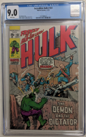 """1970 """"The Incredible Hulk"""" Issue #133 Marvel Comic Book (CGC 9.0) at PristineAuction.com"""
