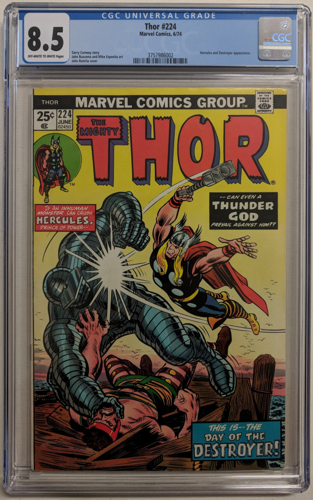 "1974 ""The Mighty Thor"" Issue #224 Marvel Comic Book (CGC 8.5) at PristineAuction.com"