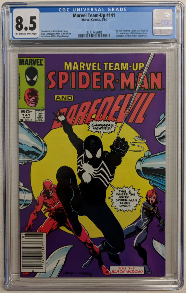 """1984 """"Marvel Team-Up"""" Issue #141 Marvel Comic Book (CGC 8.5) at PristineAuction.com"""