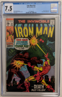 "1970 ""The Invincible Iron Man"" Issue #22 Marvel Comic Book (CGC 7.5) at PristineAuction.com"