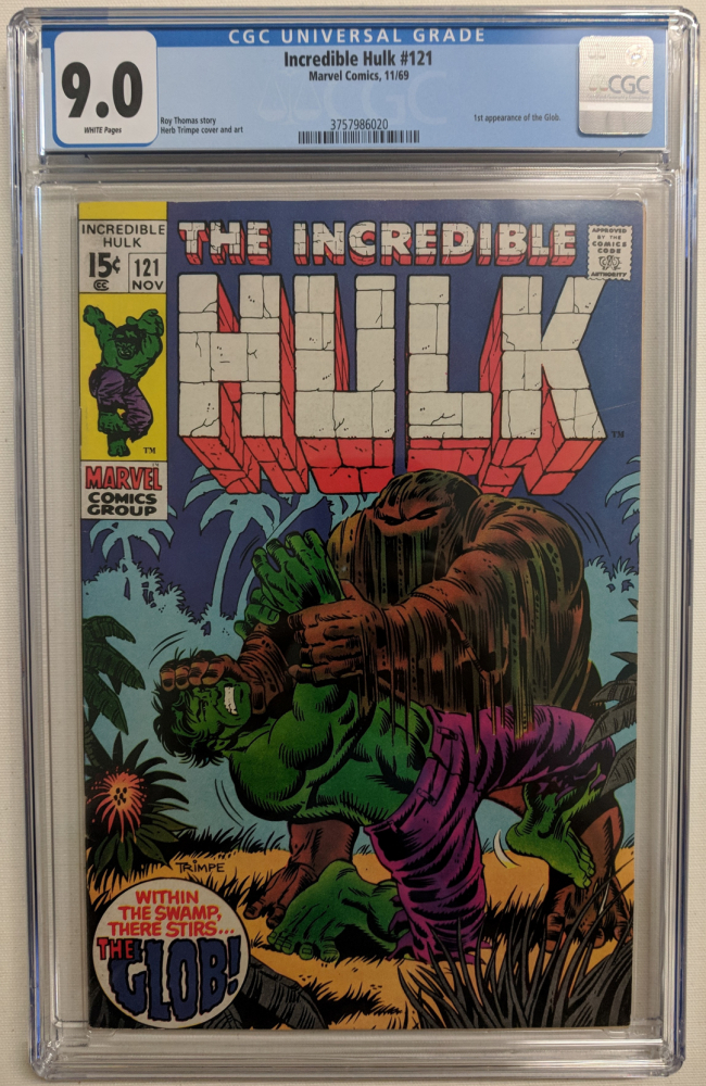 """1969 """"The Incredible Hulk"""" Issue #121 Marvel Comic Book (CGC 9.0) at PristineAuction.com"""