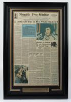 "Elvis Presley ""Memphis Press-Scimitar"" 20.5x30.5 Custom Framed Original Death Day Newspaper Display (See Description) at PristineAuction.com"