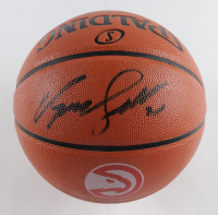 Dominique Wilkins Signed Hawks Logo NBA Game Ball Series Basketball (Schwartz COA) at PristineAuction.com