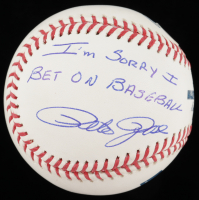 "Pete Rose Signed OML Baseball Inscribed ""I'm Sorry I Bet On Baseball"" (Beckett COA & Fiterman Hologram) at PristineAuction.com"