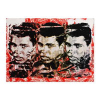 "Mr. Brainwash Signed ""Legend Forever"" 22x30 Silkscreen Overpaint on Deckle Edge Paper at PristineAuction.com"