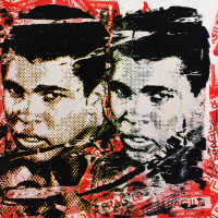 """Mr. Brainwash Signed """"Legend Forever"""" 22x30 Silkscreen Overpaint on Deckle Edge Paper at PristineAuction.com"""