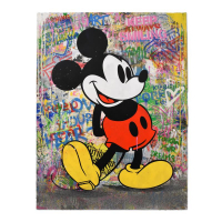 "Mr. Brainwash Signed ""M Classic"" 38x50 One-of-a-Kind Mixed Media on Deckle Edge Paper at PristineAuction.com"
