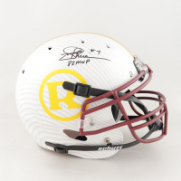 """Joe Theismann Signed Full-Size Authentic On-Field Hydro-Dipped Helmet Inscribed """"83 MVP"""" (JSA Hologram) at PristineAuction.com"""