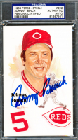 Johnny Bench Signed 1980-02 Perez-Steele Hall of Fame Postcards #202 (PSA Encapsulated) at PristineAuction.com