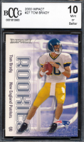 Tom Brady 2000 Impact #27 RC (BCCG 10) at PristineAuction.com