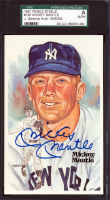 Mickey Mantle Signed 1980-02 Perez-Steele Hall of Fame Postcards #145 (SGC Encapsulated) at PristineAuction.com