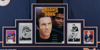 Gale Sayers & Brian Piccolo Signed 40.5x64.5 Custom Framed Photo Display with (2) Jerseys (JSA ALOA) at PristineAuction.com