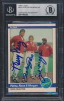 Joe Morgan, Pete Rose & Tony Perez Signed 1984 Fleer #636 (BGS Encapsulated) at PristineAuction.com