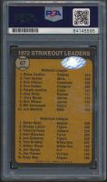 Steve Carlton & Nolan Ryan Signed 1973 Topps #67 Strikeout Leaders (PSA Encapsulated & Ryan Hologram) at PristineAuction.com